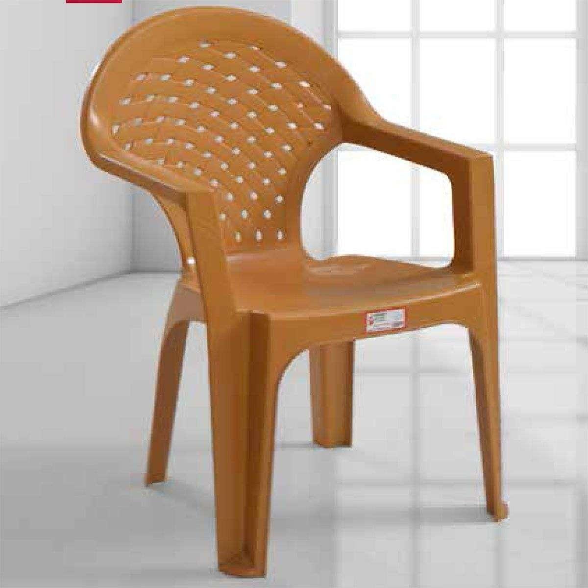 Kollu Plastik Bahçe Sandalyesi-4 Adet