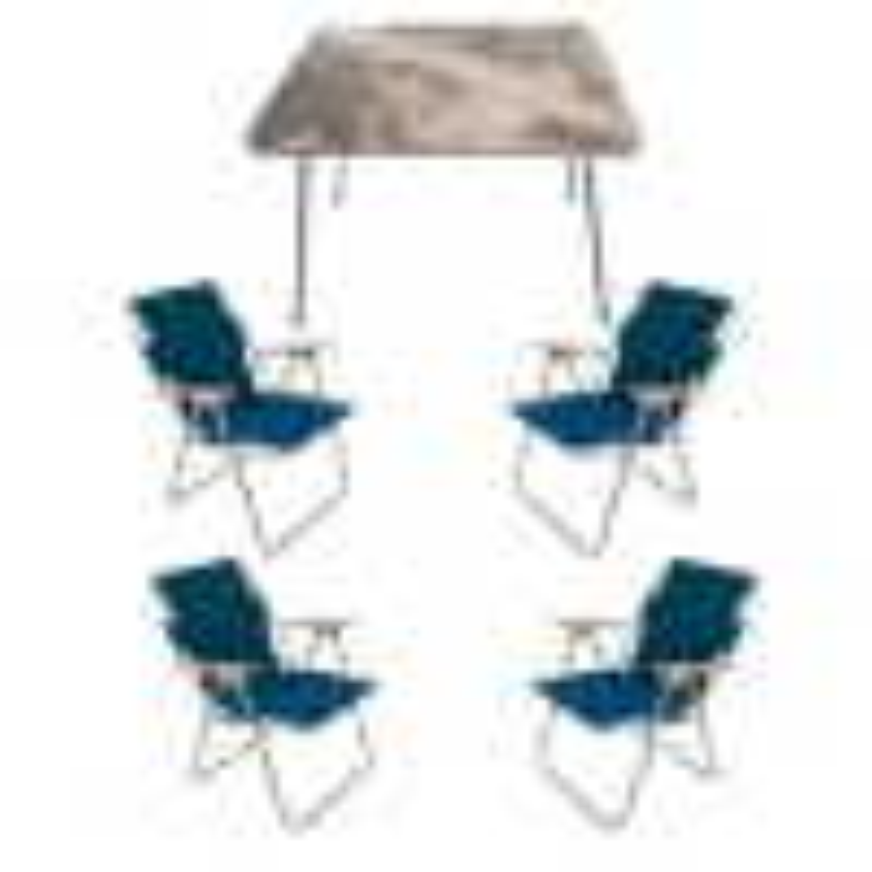 Katlanır Kamp Masa Sandalye Seti - 4 Sandalyeli