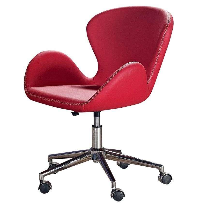 Loft Kırmızı Ofis / Büro Sandalyesi