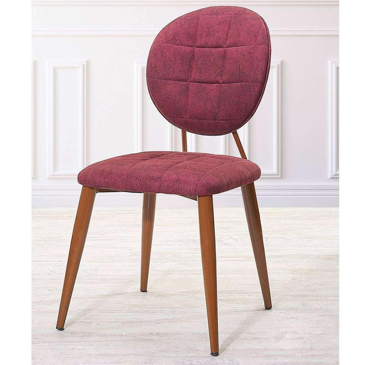 Bordo Ceviz Sandalye