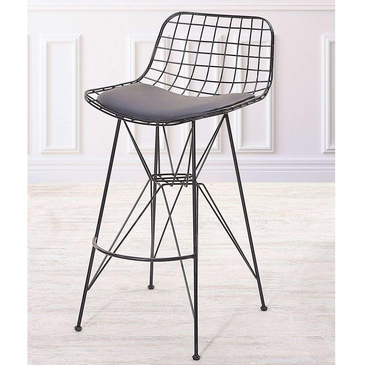 Siyah Bar Tipi Demir Sandalye