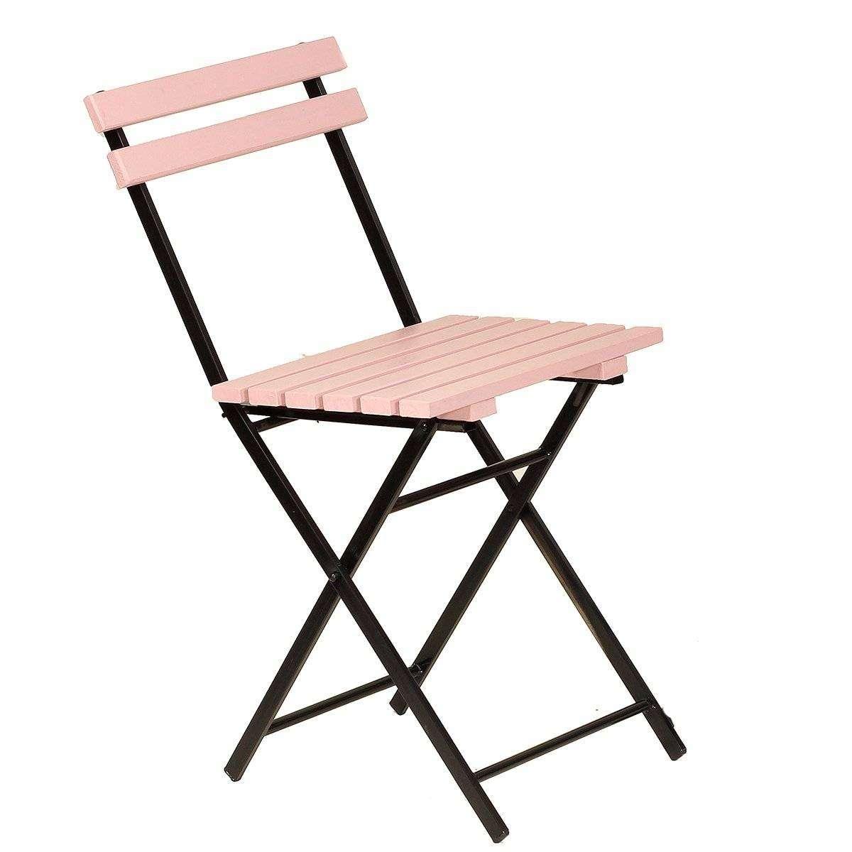Ahşap Pembe Katlanır Sandalye