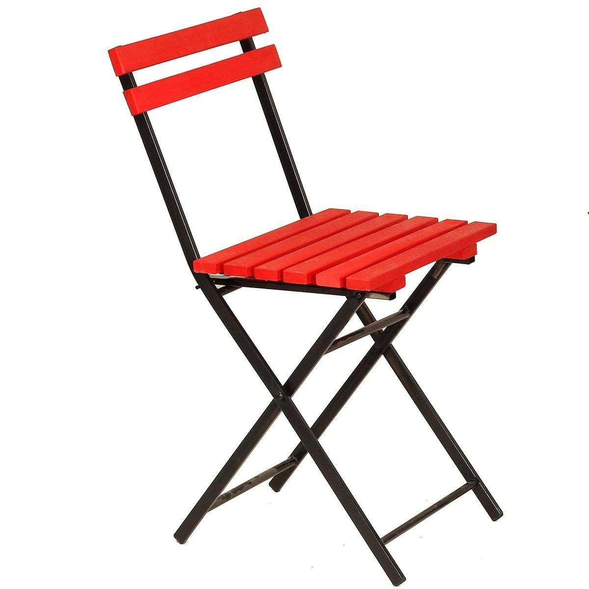 Ahşap Kırmızı Katlanır Sandalye