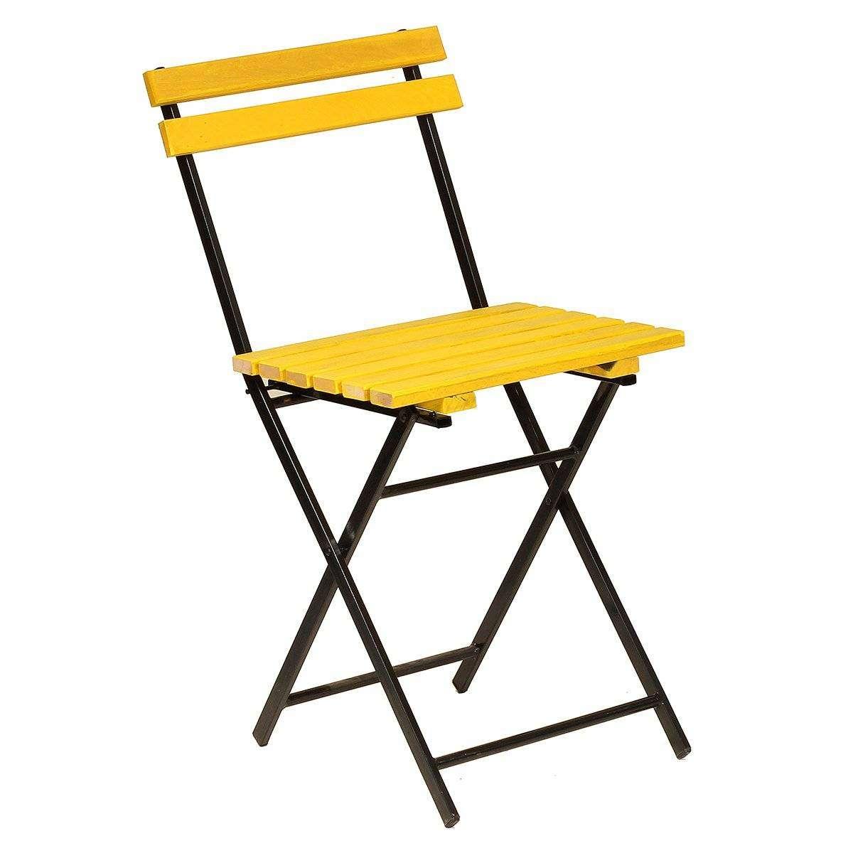 Ahşap Sarı Katlanır Sandalye