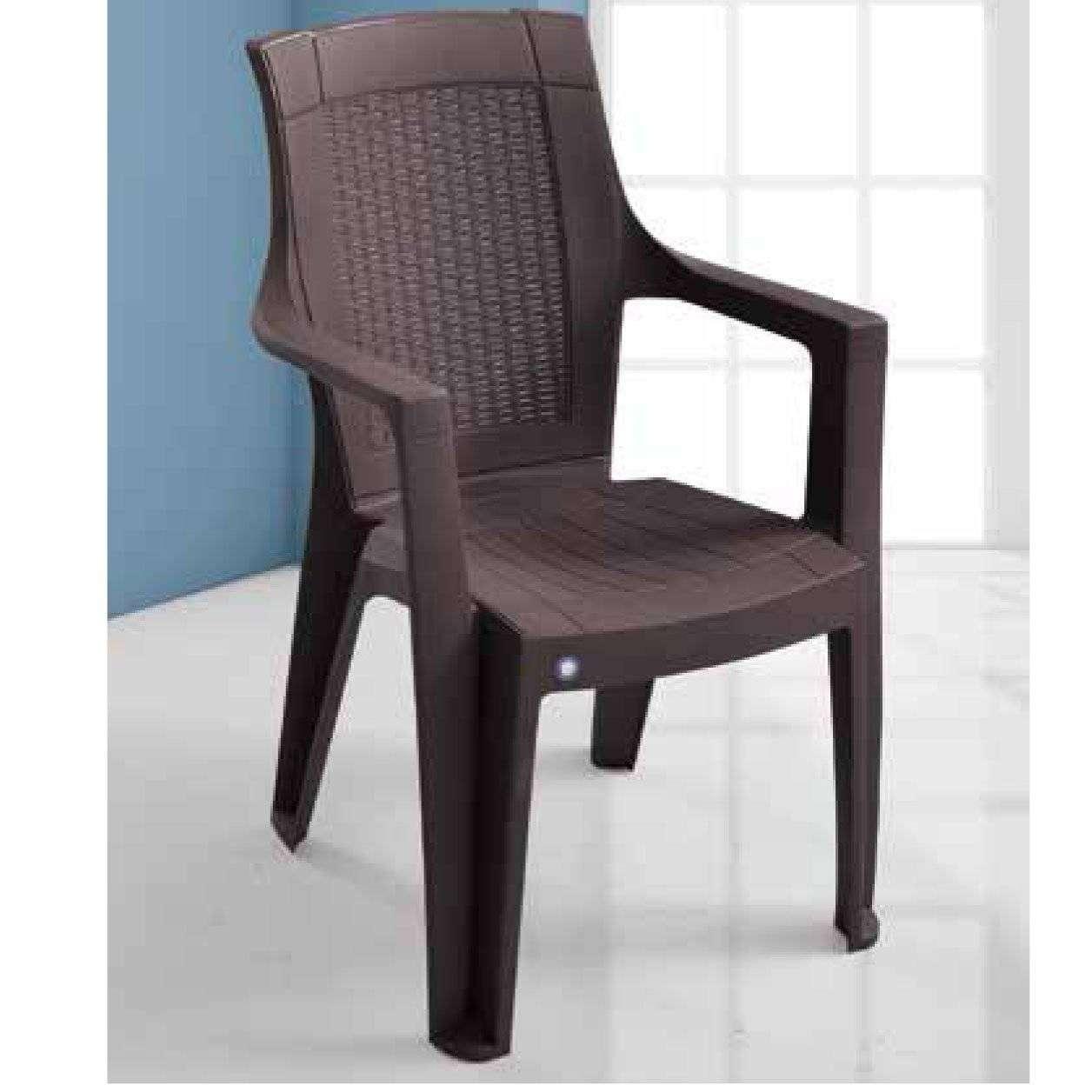 Milano Kollu Plastik Bahçe Sandalyesi-4 Adet