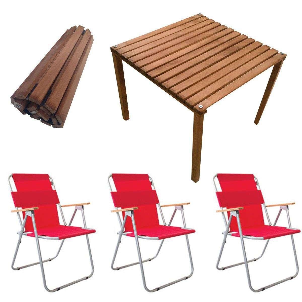 Rulo Katlanır Kamp Masa Sandalye Seti - 3 Sandalyeli
