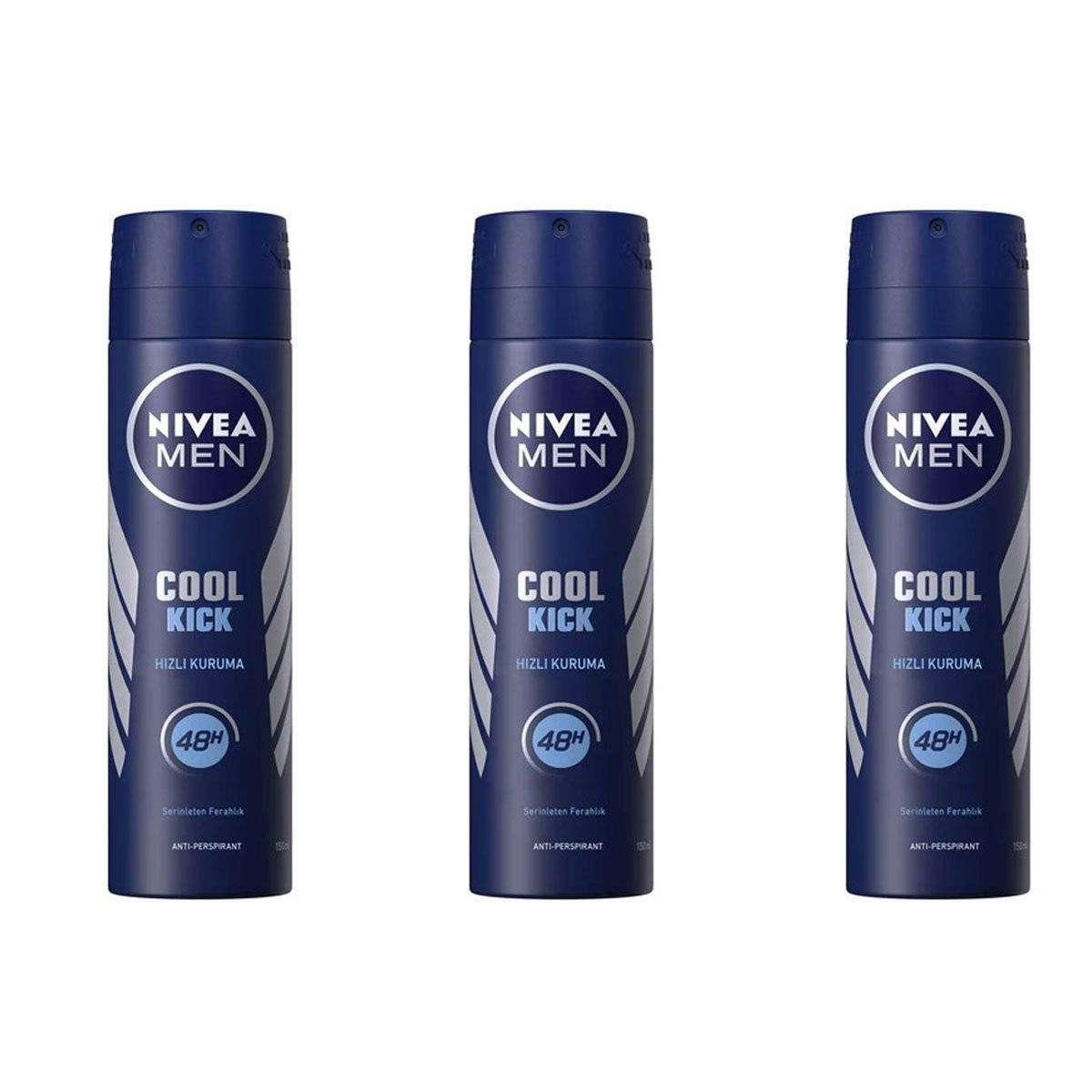 Nivea Cool Kick Sprey Deodorant 150 ML - 3 Adet