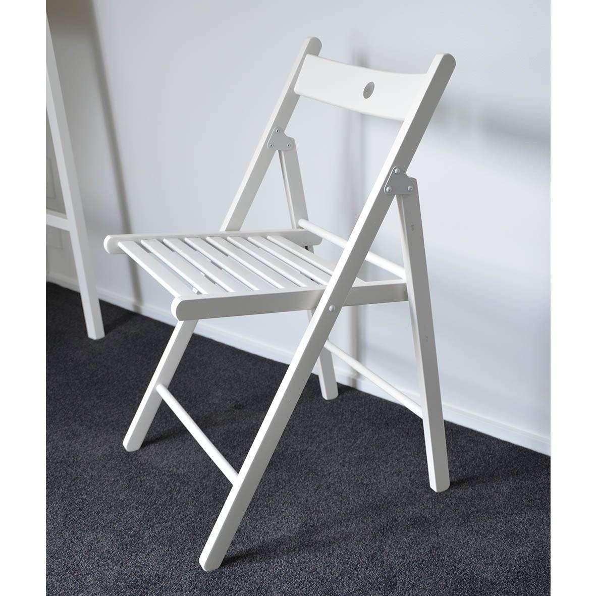 Katlanabilir Beyaz Sandalye