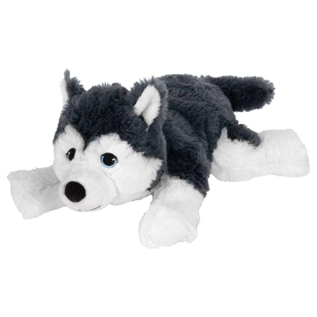 Yumuşak Oyuncak Köpek Gri-Beyaz
